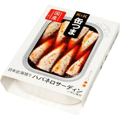 K&K 缶つま 日本近海獲り ハバネロサーディン(75g)