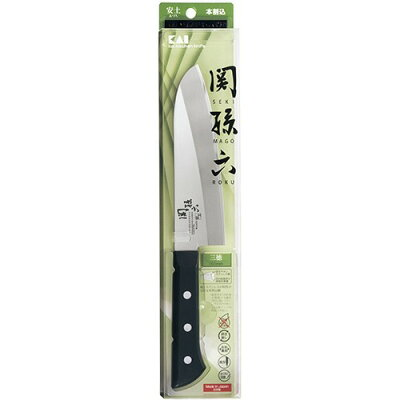 関孫六 安土 三徳包丁 165mm AE5141(1本入)