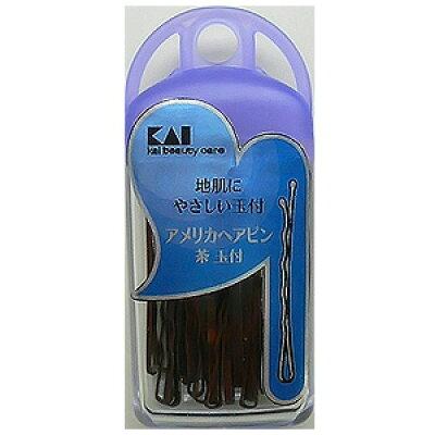 貝印 アメリカヘアピン茶玉付 HA0103 30g