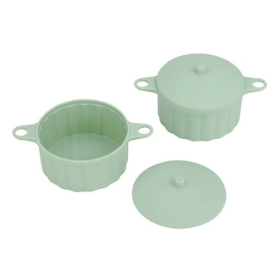 Silicone Cook&Table ミニ鍋(サークル) グリーン 2個入 DS-1201