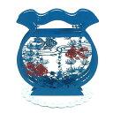 夏カード 金魚鉢 28873-0立てて飾れる立体夏柄グリーティングカード  サンリオ