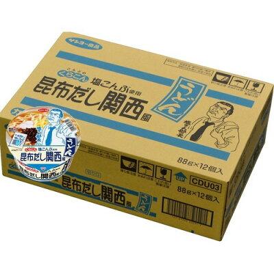 サッポロ一番 くらこん塩こんぶ使用 昆布だし関西風うどん(12個入)