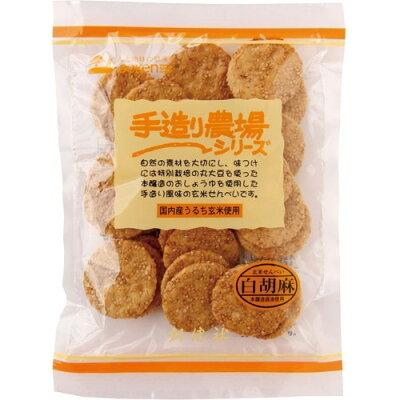 創健社 手造り農場 玄米せんべい白胡麻(100g)