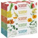 スコッティ ティシュー フラワーボックス(320枚(160組) 5箱パック)