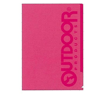 サンスター クリアファイル5P ピンク  OUTDOOR S2116367