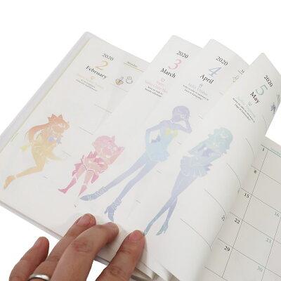 セーラームーン 手帳 2020年 2019年10月始まり 月間B6 ルナ