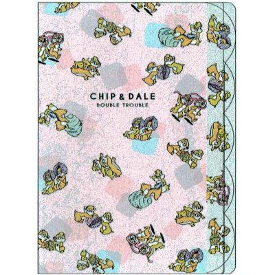 ダイカット 5インデックス A4 クリアファイル ポケット ファイル チップ&デール ハニー&ナッツ ピンク ディズニー
