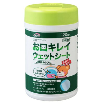 ケアハート 口腔専科 お口キレイウェットシートN ボトル(120枚入)