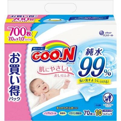 グーン 肌にやさしいおしりふき つめかえ用(700枚入(70枚*10コ入))