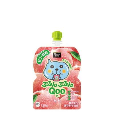 ミニッツメイド クー ぷるんぷるんクー ピーチ味 125G パウチx30