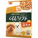 ビタワン君のWソフト 成犬用 お肉を味わうビーフ味粒・やわらかささみ入り(200g)