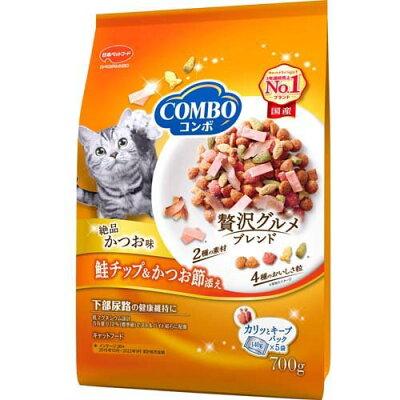 コンボ 猫下部尿路の健康維持 かつお味・鮭チップ・かつお節添え(140g*5袋入)