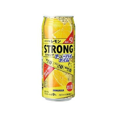 サンガリア ストロングチューハイタイムゼロ レモン 490ml