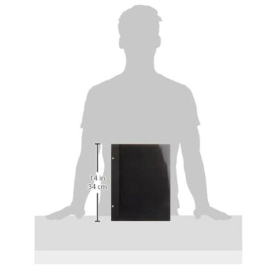 フリー替台紙 100年台紙 ビス式/A4サイズ ブラック アH-A4FR-5-D(5枚入)