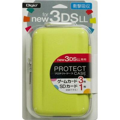 Digio2 new 3DS LL用プロテクトケース ライムイエロー SZC-3DSLL1401-LY(1コ入)