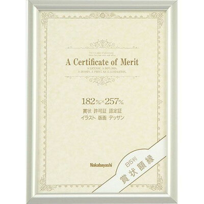 ナカバヤシ アルミ製賞状額 B5判(JIS規格) フ-KA-11-S(1コ入)