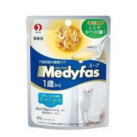 メディファス スープパウチ 1歳から まぐろ・ささみ・しらす・かつお節入り 40g