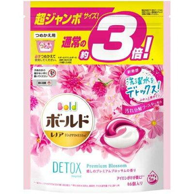 ボールド 洗濯洗剤 ジェルボール3D癒しのプレミアムブロッサムの香り 詰替 超ジャンボ(46個入)