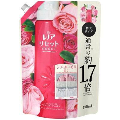 レノア リセット 柔軟剤 フレッシュローズ&ナチュラルガーデンの香り 詰替 特大(795ml)