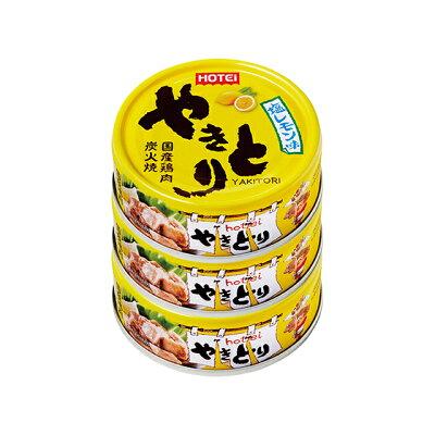 ホテイフーズコーポレーション ホテイやきとり塩レモン味3缶S70g×3