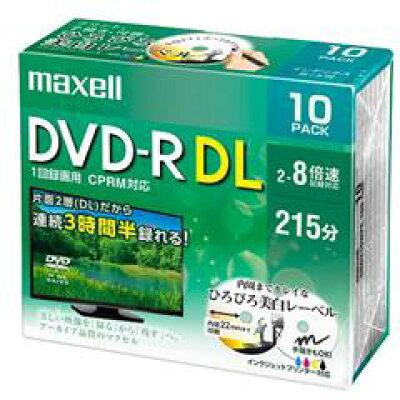 maxell 8倍速対応 DVD-R DRD215WPE.10S