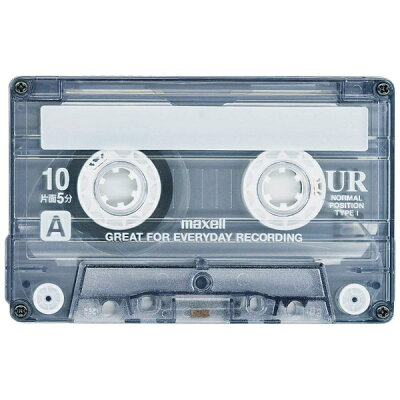マクセル 音楽用テープ 10分 4巻 UR-10M 4P(1セット)