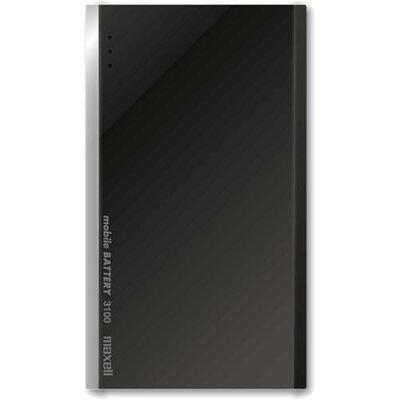マクセル 薄型モバイルバッテリー ブラック MPC-T3100PBK(1台)