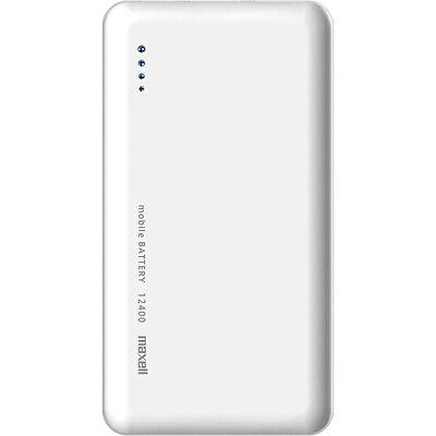 マクセル モバイルバッテリーType-C 12400mAh ホワイト MPC-CTY12400 WH(1個)