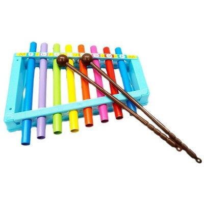 リズムdeシロホン おもちゃ 音楽 楽器 鉄琴 玩具リズム がっき 鳴る 子供用 楽しい 女の子 男の子