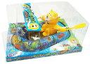 おとぼけクマっちのすいすいボートゼンマイ仕掛け おもちゃ 船 ビニールボート ゼンマイ仕掛け アニマル 水上移動 電池不要 お風呂