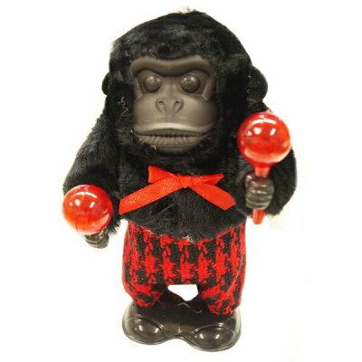 のりのりマラカスゴリラ おもちゃ アニマル ゼンマイ仕掛け 電池不要 おもしろ 音楽マラカス 楽器 おもしろ ゴリラ 動物 アニマル ぜんまい 男の子 女の子 鳴る 音が出る 動き 動く 楽しい 幼児 玩具 シャカシャカ 人形