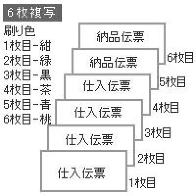 """ヒサゴ bp1709 百貨店統一伝票 買取6行 6p  綴り  複写   11""""x5"""""""