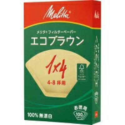 メリタ フィルターペーパー エコブラウン 1*4G PE-14GB(100枚入)