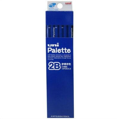 uni パレット かきかた鉛筆 2B 六角軸 ブルー(12本入)