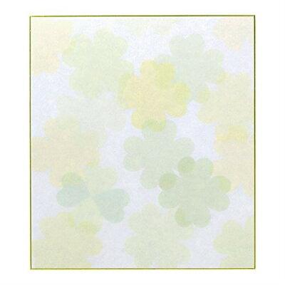 カラー色紙 クローバー柄