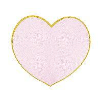 ミドリ カラー色紙 ダイカットハート ピンク