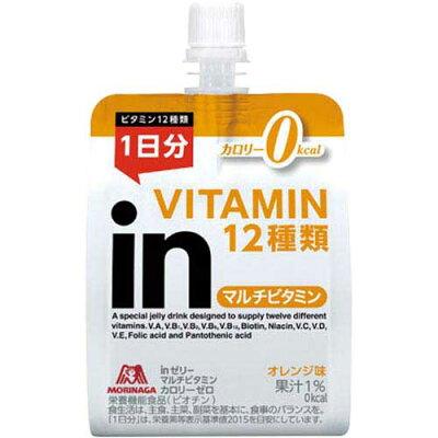 森永製菓 inゼリー マルチビタミン カロリーゼロ オレンジ味(180g*6コ)