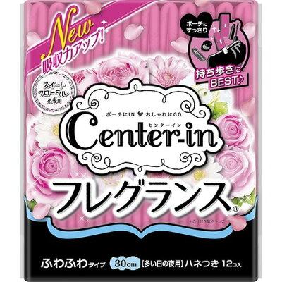 センターインコンパクト フレグランス スイートフローラルの香り 多い日夜用 羽つき(12枚入)