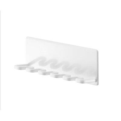 山崎実業 マグネットバスルーム歯ブラシホルダー 5連 タワー ホワイト 4696