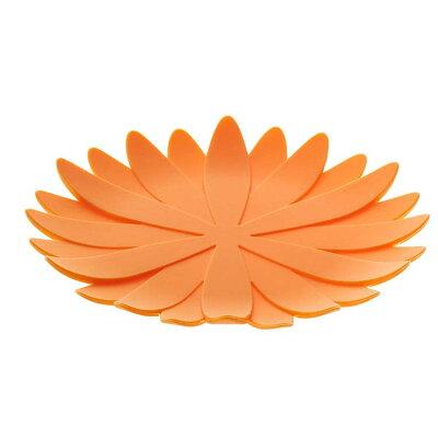 山崎実業 立体コースター ガーベラ シリコン製 オレンジ