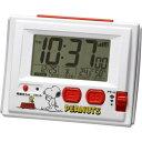 リズム時計 キャラクタークロック スヌーピー 白 8RZ126RH03(1コ入)