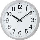 RHYTHM/リズム時計 4KGA06DN19 クオーツ掛時計 シルバーメタリック色 白