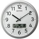 リズム時計 プログラム電波掛時計 カレンダー表示付 4FNA01SR19
