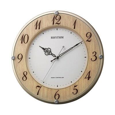 リズム時計電波掛け時計 ライブリーナチュレ 8MY506SR23