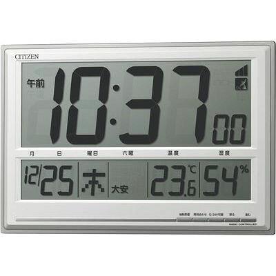 リズム時計 8RZ199-019 掛け時計 シチズン シルバーメタリック