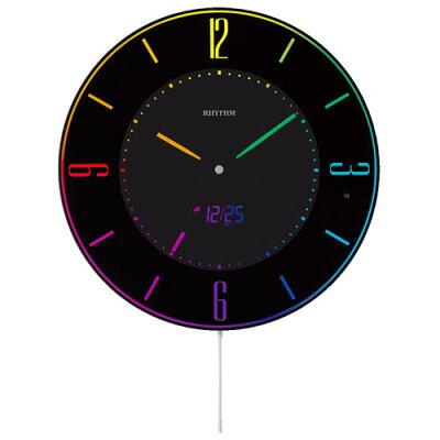 リズム時計 電波掛時計 URAWA REDS 黒 8RZ197SR02