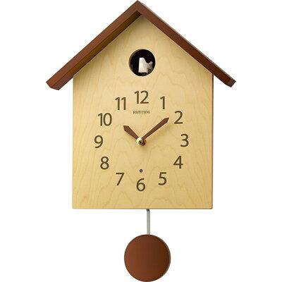 リズム時計工業 RHYTHM 鳩時計 カッコースタイル 145 薄茶半艶仕上 4MJ441NC06