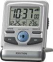 リズム時計 デジタル電波目覚まし時計 フィットウエーブD214 8RZ214SR19 シルバーメタリック