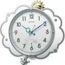 リズム時計 掛け時計 ファンタジースカイ409 8MX409SR19 シルバーメタリック