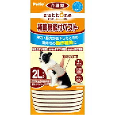 ペティオ ずっとね 老犬介護用 補助機能付ベストK(2Lサイズ*1コ入)